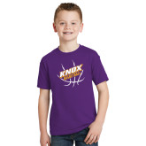 Youth Purple T Shirt-Knox Basketball w/Ball