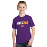 Youth Purple T Shirt-Knox Golf