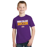 Youth Purple T Shirt-Knox College Soccer Stacked