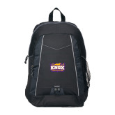 Impulse Black Backpack-Prairie Fire Logo