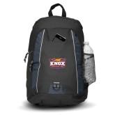 Impulse Black Backpack-Prairie Fire Logo
