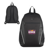 Atlas Black Computer Backpack-Prairie Fire Logo