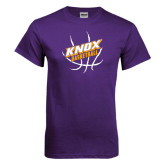 Purple T Shirt-Knox Basketball w/Ball