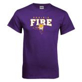 Purple T Shirt-Praire Fire Mascot Logo