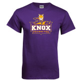 Purple T Shirt-Knox Mascot Logo