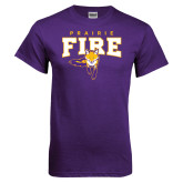 Purple T Shirt-Praire Fire Mascot Logo