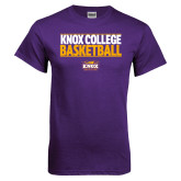 Purple T Shirt-Knox College Basketball Stacked