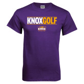 Purple T Shirt-Knox Golf