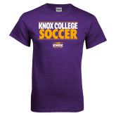 Purple T Shirt-Knox College Soccer Stacked