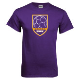 Purple T Shirt-Knox Soccer Shield