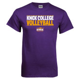 Purple T Shirt-Knox College Volleyball Stacked