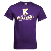 Purple T Shirt-Knox College Volleyball Can You Dig It