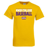 Gold T Shirt-Knox College Baseball Stacked