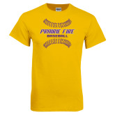 Gold T Shirt-Prairie Fire Baseball w/Seams