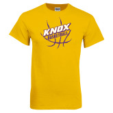 Gold T Shirt-Knox Basketball w/Ball