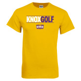 Gold T Shirt-Knox Golf