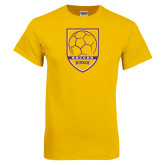 Gold T Shirt-Knox Soccer Shield
