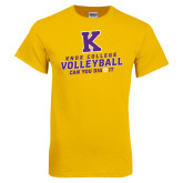 Gold T Shirt-Knox College Volleyball Can You Dig It