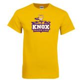 Gold T Shirt-Knox Mascot Logo