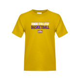 Youth Gold T Shirt-Knox College Basketball Stacked