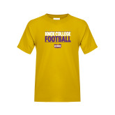 Youth Gold T Shirt-Knox College Football Stacked