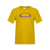 Youth Gold T Shirt-Knox College Football Horizontal