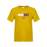 Youth Gold T Shirt-Knox Golf