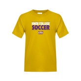 Youth Gold T Shirt-Knox College Soccer Stacked