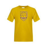 Youth Gold T Shirt-Knox Soccer Shield