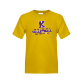 Youth Gold T Shirt-Knox College Volleyball Can You Dig It