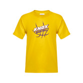 Youth Gold T Shirt-Knox Basketball w/Ball