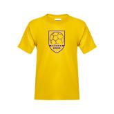 Youth Gold T Shirt-Knox Soccer Shield
