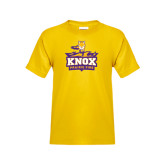 Youth Gold T Shirt-Knox Mascot Logo
