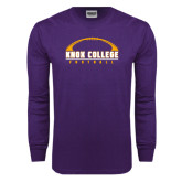 Purple Long Sleeve T Shirt-Knox College Football Horizontal