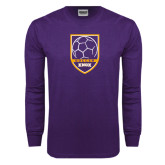 Purple Long Sleeve T Shirt-Knox Soccer Shield