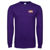 Purple Long Sleeve T Shirt-Prairie Fire Logo