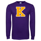 Purple Long Sleeve T Shirt-K