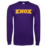 Purple Long Sleeve T Shirt-Knox