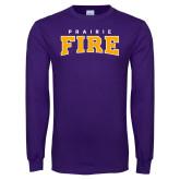 Purple Long Sleeve T Shirt-Prairie Fire