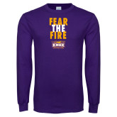 Purple Long Sleeve T Shirt-Fear The Fire