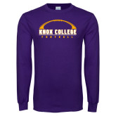 Purple Long Sleeve T Shirt-Knox College Football Horizontal