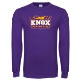 Purple Long Sleeve T Shirt-Prairie Fire Logo, Custom Tee w/ Name and #