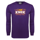 Purple Long Sleeve T Shirt-Prairie Fire Logo