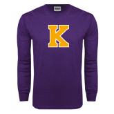 Purple Long Sleeve T Shirt-K