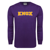 Purple Long Sleeve T Shirt-Knox