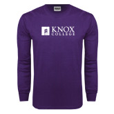 Purple Long Sleeve T Shirt-Institutional Logo