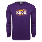 Purple Long Sleeve T Shirt-Golf