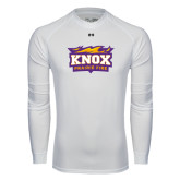 Under Armour White Long Sleeve Tech Tee-Prairie Fire Logo
