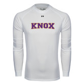 Under Armour White Long Sleeve Tech Tee-Knox