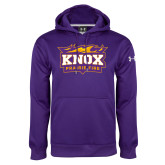 Under Armour Purple Performance Sweats Team Hoodie-Prairie Fire Logo